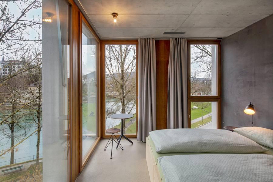 Doppelzimmer in der Jugendherberge.