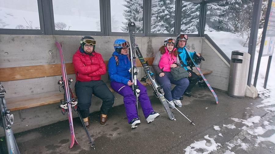 Skilager in Falera.