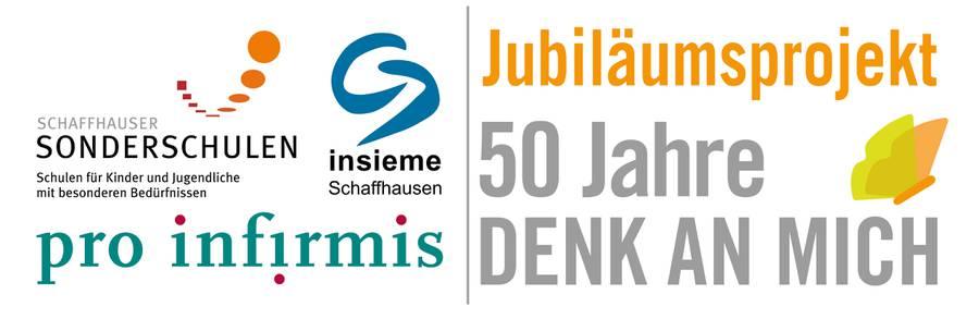 Jubiläumslogo mit den Logos vom Ferienhort Schaffhausen