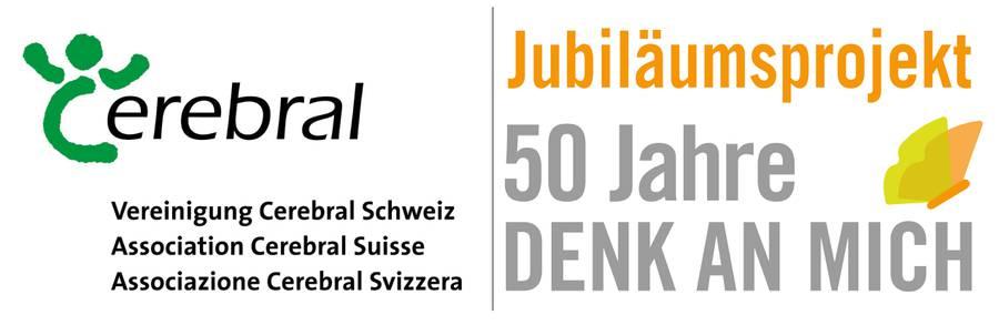 Jubiläumslogo der Vereinigung Cerebral Schweiz