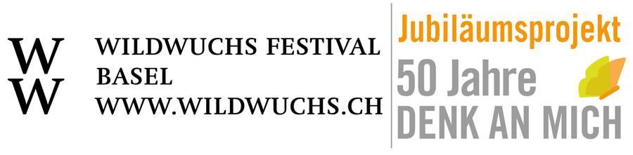 Jubiläumslogog vom wildwuchs Festival Basel