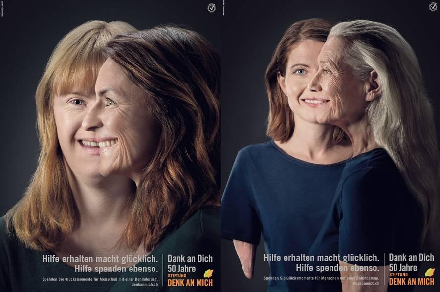 Die beiden Kampagnenbilder 2018.