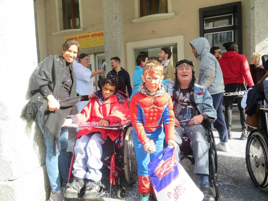 Im Spiderman-Kostüm am Carneval.
