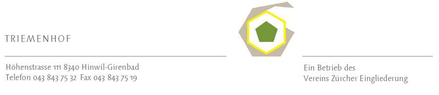 Das Logo des Triemenhofs.